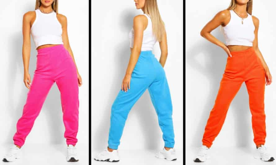 Boohoo's jogging bottoms sold particularly well.