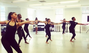 'I hope my students feel that they can achieve anything' ... Kamara Gray with pupils at London's Artistry Youth Dance