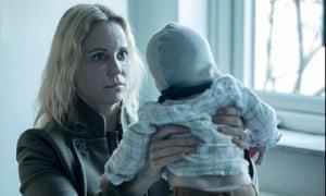 Saga … left holding the baby.