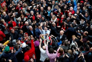 Vancouver, Canada: PM Justin Trudeau takes part in a rally on the eve of the federal election