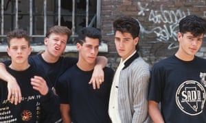 Joe McIntyre, Donnie Wahlberg, Danny Wood, Jonathan Knight and Jordan Knight in 1989.