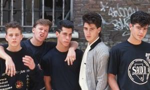 Joe McIntyre, Donnie Wahlberg, Danny Wood, Jonathan Knight and Jordan Knight in 1989.