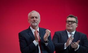Tom Watson, right, with Jeremy Corbyn.