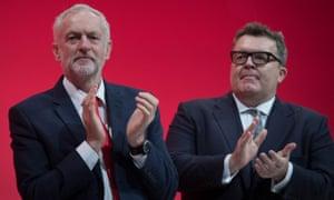 Jeremy Corbyn and Tom Watson.