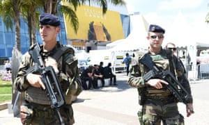 Security forces at Cannes festival