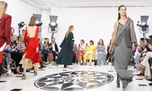 The Victoria Beckham show at London fashion week.