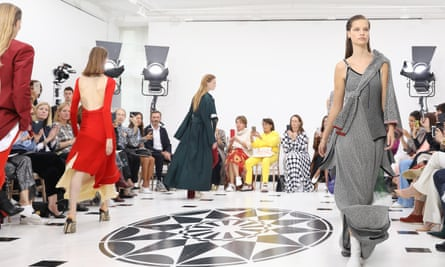 The Victoria Beckham show at London fashion week.