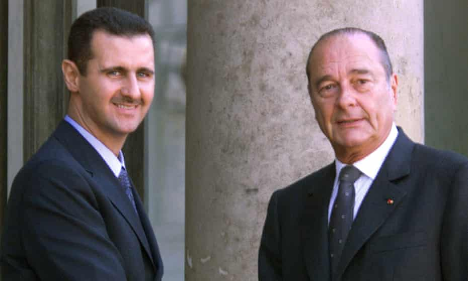 The Syrian president, Bashar al-Assad, was honoured by his French counterpart, Jacques Chirac, in 2001.