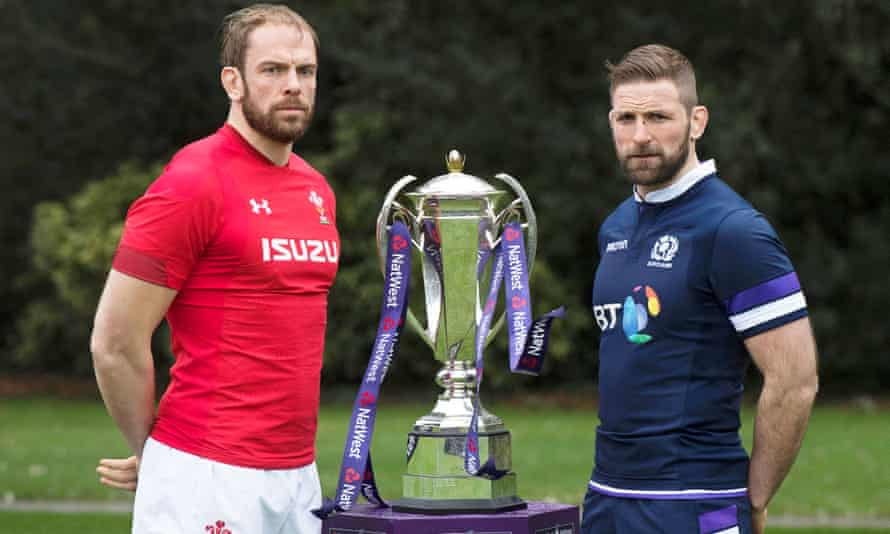 Wales captain Alun Wyn Jones and Scotland counterpart John Barclay, whose teams meet in the Six Nations opener.