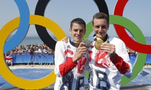 Alistair (right, with his gold medal) and Jonny Brownlee (with silver) after their Olympic triathlon triumph for Team GB at Rio 2016.