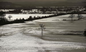 Standing water on fields near Hereford