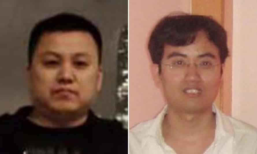 Zhu Hua and Zhang Shilong, two members of a hacking group wanted by the FBI.