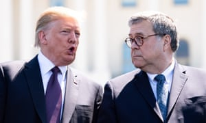 As attorney general, William Barr, right, has authorized an investigation into the FBI investigation that gave rise to the Mueller report – a longstanding Trump demand.