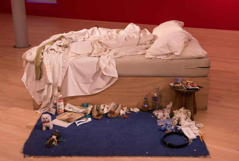 My Bed by Tracey Emin, on show at Tate Liverpool.