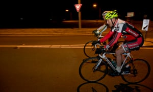 The Prime Minister Tony Abbott on his early morning ride this morning in Canberra, Tuesday 17th March 2015.