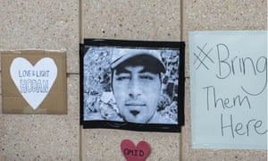 A tribute to Omid Masoumali whom died while in detention after burning himself to death. The 24-year-old's funeral was held in Iran on Friday.