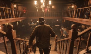 Red Dead Redemption 2 … the swing-door saloons are there, but so is an industrialised city.