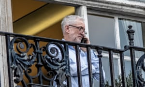 Jeremy Corbyn photographed earlier this week on the balcony of his Commons office.