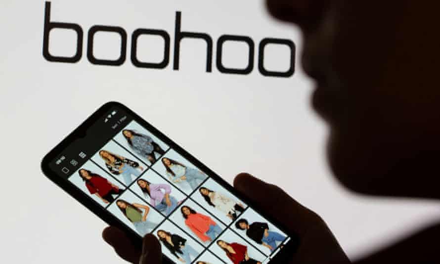 a Boohoo app on a mobile phone