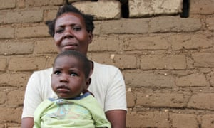 Annie Namakhwa and one of her children