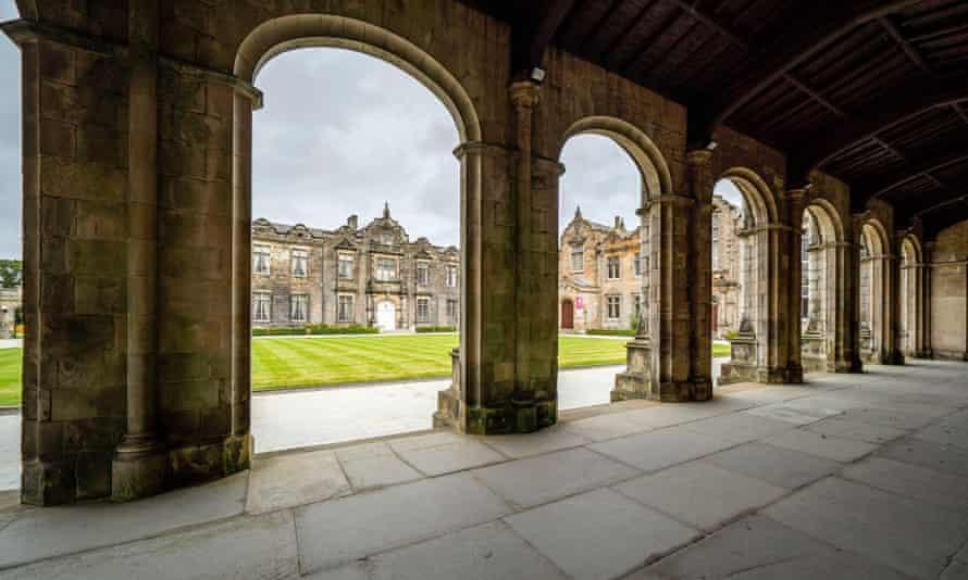 St Salvator's quad at St Andrews University, Fife