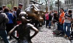 The Fearless Girl statue briefly had a new animal rival before the artist removed Pissing Pug.