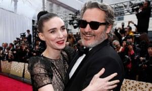 Rooney Mara and Joaquin Phoenix at the 2020 Oscars in February.