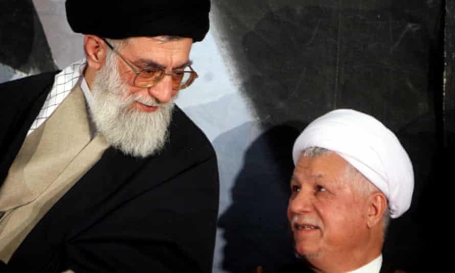 Ayatollah Khamenei, left, with Rafsanjani at the tomb of Ayatollah Khomeini in Tehran in 2006.