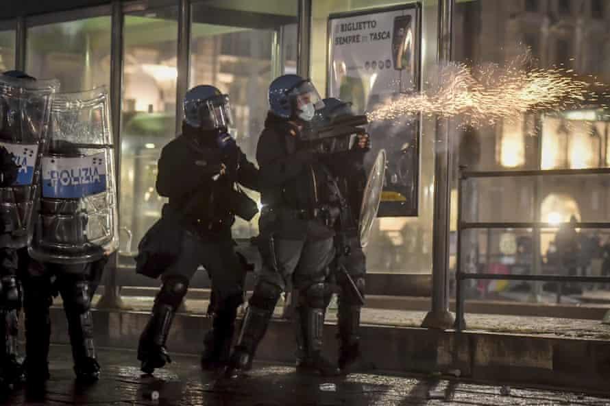 Riot police in Italy