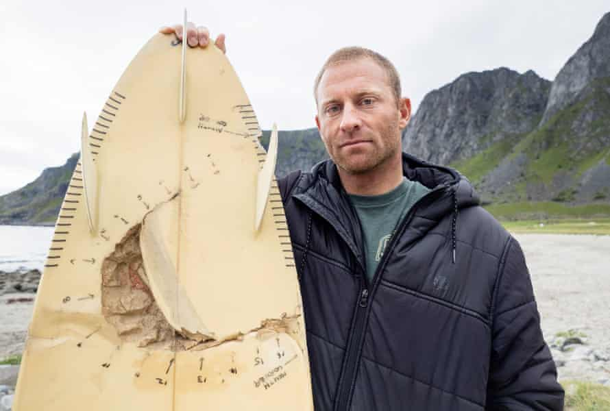 Shannon Ainslie and his bitten board