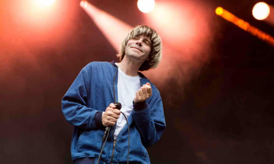 Tim Burgess onstage with the Charlatans in Oslo, 2019.