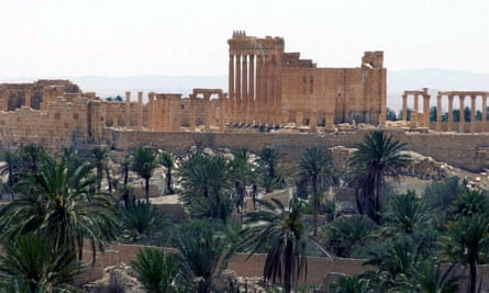 General view of the ancient Roman city of Palmyra