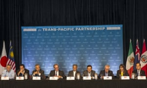 Trans-Pacific Partnership (TPP) Ministers at a press conference to discuss progress in the negotiations in Maui, Hawaii last month. REUTERS/Marco Garcia