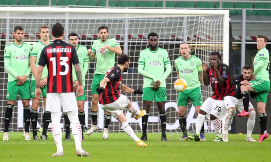 Hakan Calhanoglu starts Milan's comeback win against Celtic with their first goal of the match