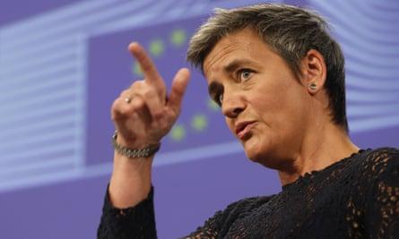 EU antitrust commissioner Margrethe Vestager