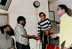 Masekela at LA's Gold Star studios in 1967
