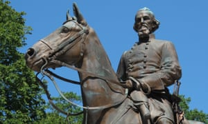 The statue of Confederate Gen Nathan Bedford Forrest at a park in Memphis, Tennessee on 18 August 2017.