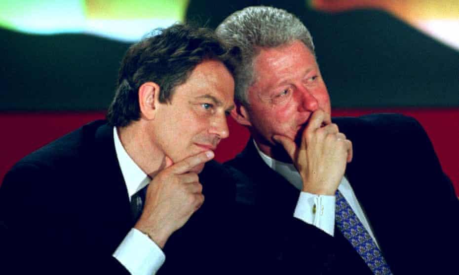 Tony Blair and President Bill Clinton in 1997.