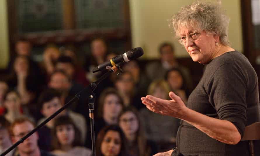 Germaine Greer speaks to students in Cambridge in January.