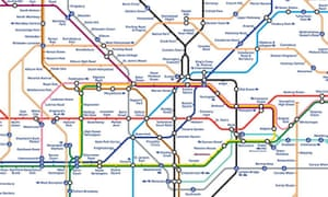 Map of London's tube network
