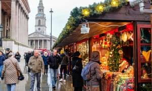 Christmas market in Trafalgar Square.