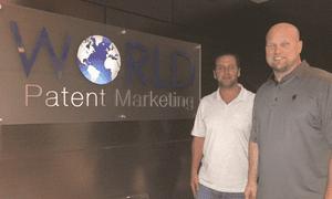 Matt Whitaker, right, with Scott Cooper, the founder of World Patent Marketing.