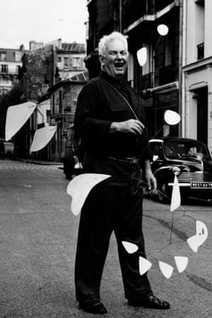 Calder in Paris in 1953.