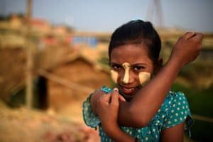 Rumana, aged 10. While it is used medicinally elsewhere in Asia, women in Myanmar also use it as a cosmetic