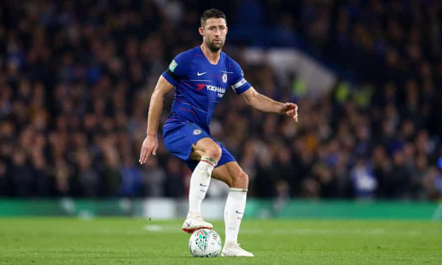 Gary Cahill has played only 21 minutes of Premier League football for Chelsea but did start against Derby in the Carabao Cu