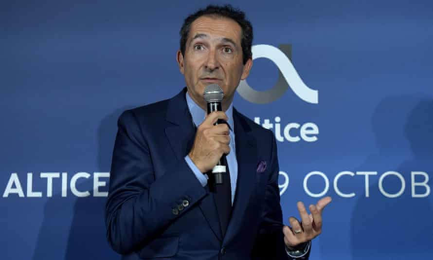 Patrick Drahi at the inauguration of the Altice campus in Paris.