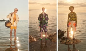 MSGM Massimo Giorgetti knows how to capture the Italian Dream 2.0. Presenting his collection via a film he produced in collaboration with the artist Francesco Nazardo and the musician Lorenzo Senni, Giorgetti captured a long day on the beach in its most engrossing light. Inspired by the American artist Stephen Miller's A Spiritual Good Time, the collection riffs on 1990s surf culture with its pastel rashguard-style tops and surfer shorts, before morphing into early-evening psychedelia via multicoloured tie-dye and after-dark rave references courtesy of Fluro suits