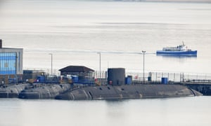 Decommissioned nuclear submarines in Rosyth dockyard. Photograph: Jeff J Mitchell/Getty Images