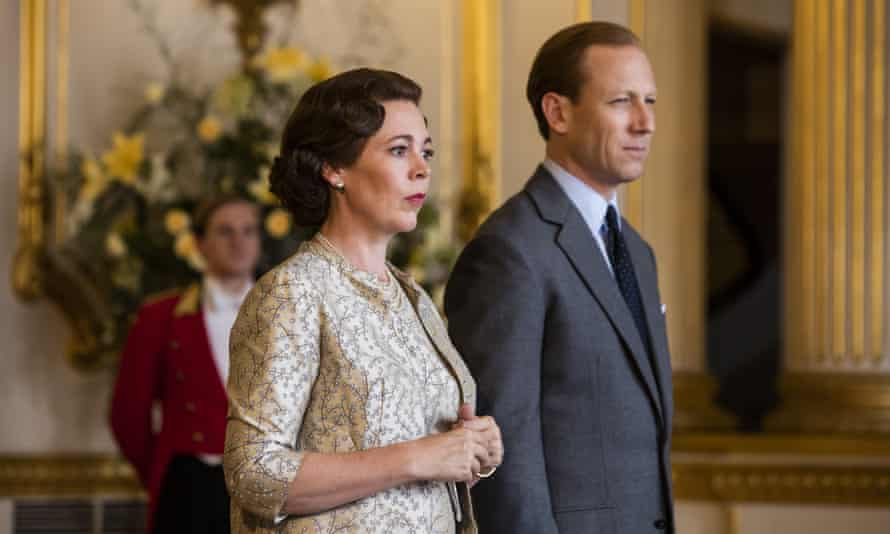 Olivia Colman and Tobias Menzies as the Queen and Prince Philip in The Crown