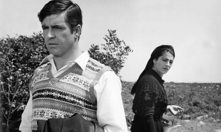 Alan Bates and Irene Papas in Zorba the Greek, 1964.